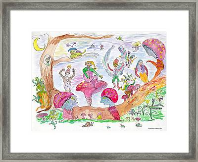 Twilight Faerie Glen Framed Print