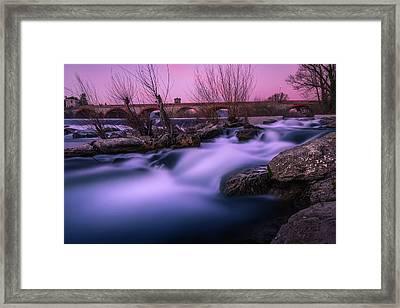 Twilight Falls Framed Print