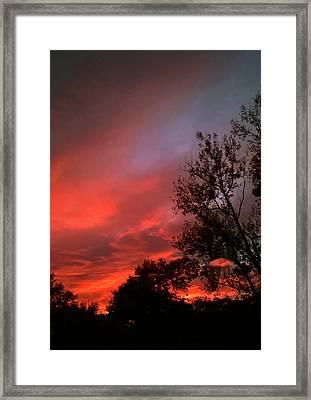 Twilight Fire Framed Print