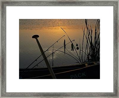 Twilight Is Fishing Light Framed Print by Buck Buchanan