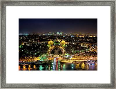 Twilight From The Eiffel Tower Framed Print by Andrew Soundarajan