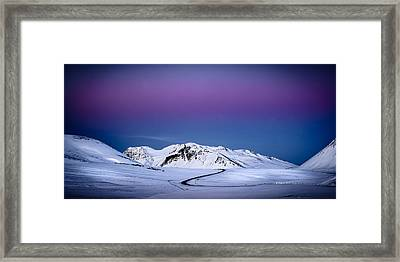 Twilight Glow, Iceland Framed Print by Peter OReilly