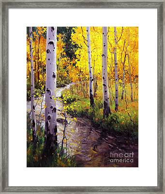 Twilight Glow Over Aspen Framed Print by Gary Kim