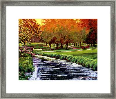 Twilight Golf Framed Print by David Lloyd Glover