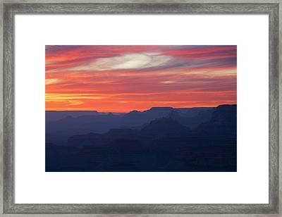 Twilight Grand Canyon Framed Print by Dean Pennala