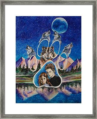 Twilight Imprinting Framed Print by Andrea  Darlington