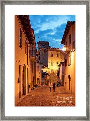 Twilight In Barolo Framed Print by Brian Jannsen