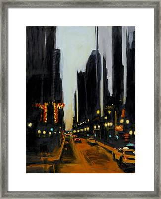 Twilight In Chicago Framed Print by Robert Reeves