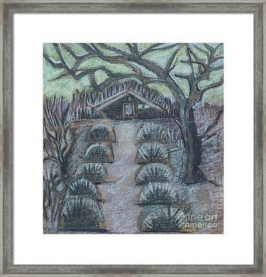Framed Print featuring the drawing Twilight In Garden, Illustration by Ariadna De Raadt