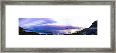 Twilight In Gold Beach Framed Print