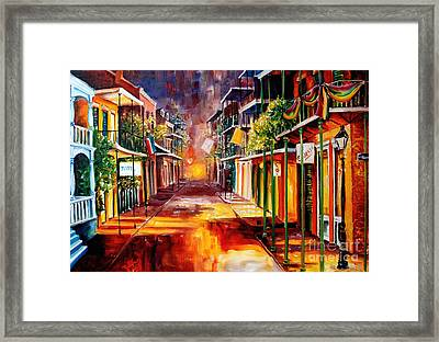 Twilight In New Orleans Framed Print
