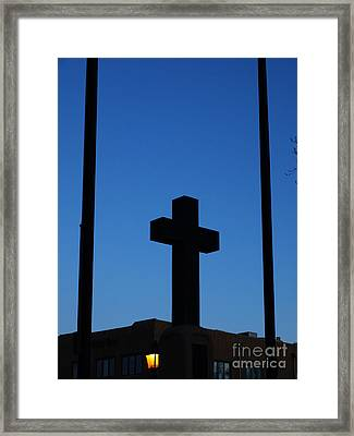 Twilight In Taos Framed Print