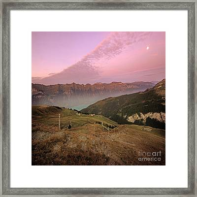 Twilight In The Alps Framed Print