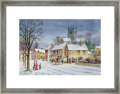 Twilight In The Village Framed Print