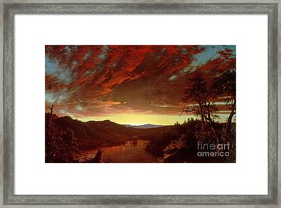 Twilight In The Wilderness Framed Print by Frederic Edwin Church
