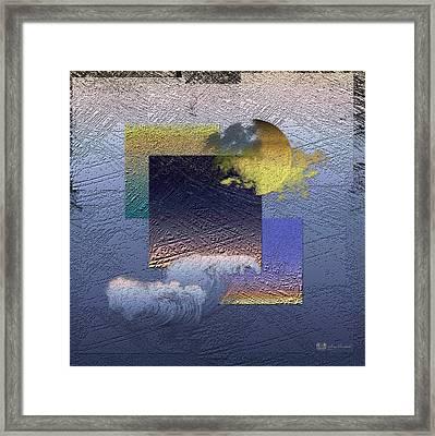 Twilight Interrupted By Ocean Breeze Framed Print