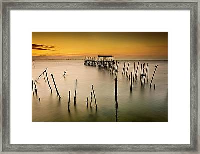 Framed Print featuring the photograph Twilight by Jorge Maia