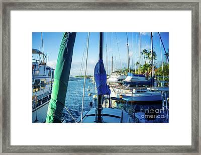 Twilight Lahaina Harbour Maui Hawaii Framed Print