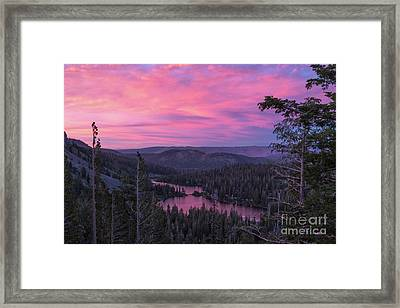 Twilight Mammoth Lakes  Framed Print
