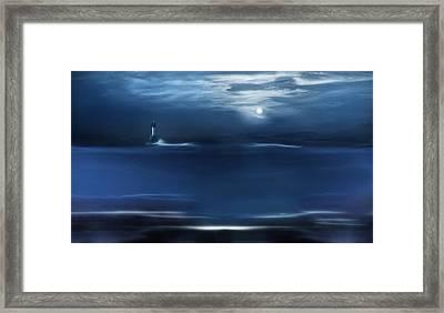 Twilight Moon Framed Print