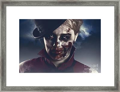 Twilight Nightmare. Possessed Halloween Girl Framed Print