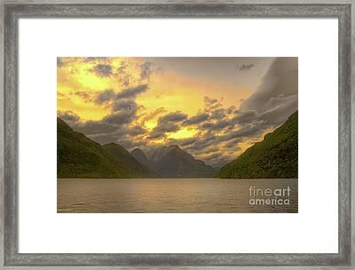Twilight Of The Gods Framed Print by Jan Pudney