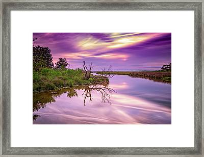 Twilight On Assateague Island Framed Print