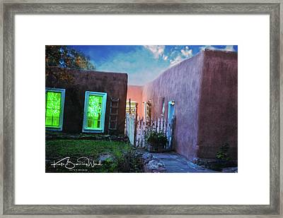Framed Print featuring the photograph Twilight On Bent Street by Kate Word