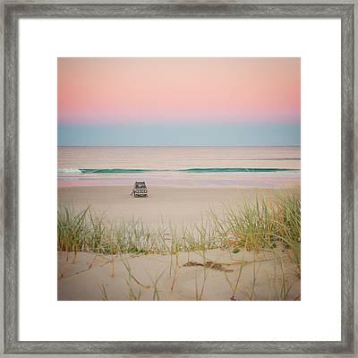 Twilight On The Beach Framed Print
