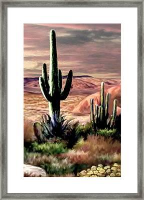 Twilight On The Desert Image 3 Framed Print