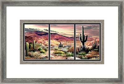 Twilight On The Desert Split Image Framed Print