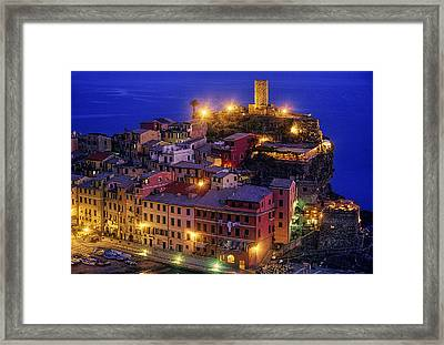 Twilight On The Italian Coast Framed Print by Andrew Soundarajan