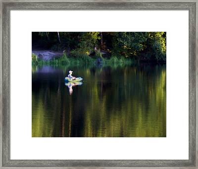 Twilight On The Lake Framed Print