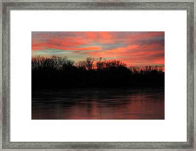 Framed Print featuring the photograph Twilight On The River by Chris Berry
