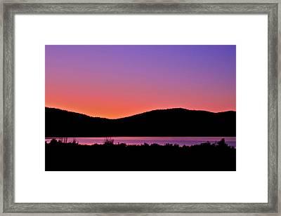 Twilight Over Eagle Lake Framed Print