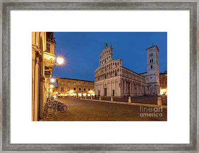 Twilight Over Lucca Framed Print