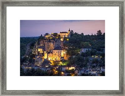 Twilight Over Rocamadour Framed Print