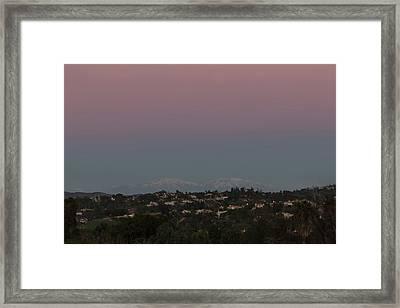 Twilight Over Snow Capped Big Bear  Framed Print