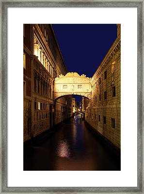 Twilight Over The Bridge Of Sighs Framed Print by Andrew Soundarajan