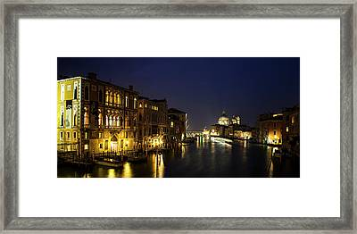 Twilight Over The Grand Canal Framed Print by Andrew Soundarajan