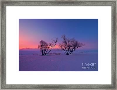 Twilight Park II Framed Print