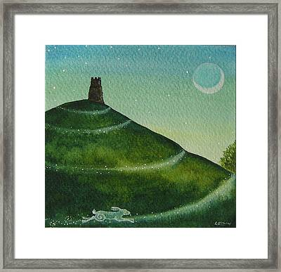 Twilight Pathway Framed Print by Lisa OMalley