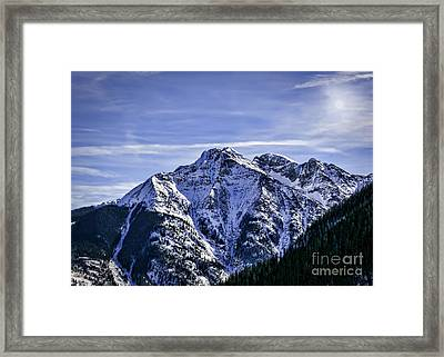 Twilight Peak Colorado Framed Print