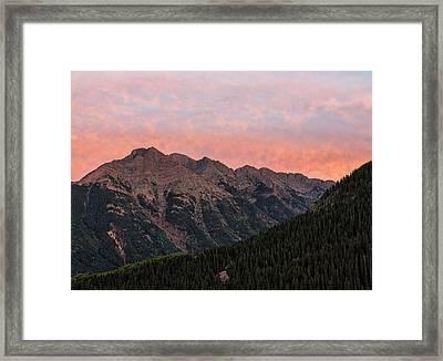 Twilight Peak - San Juan Mountains Framed Print