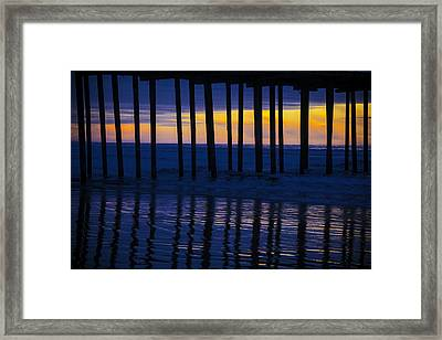 Twilight Pier Framed Print