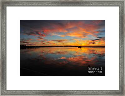 Twilight Reflection Framed Print