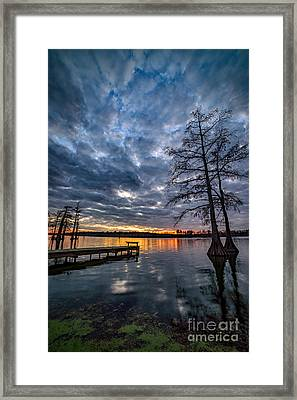 Twilight Reflections Framed Print by Anthony Heflin