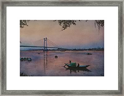 Twilight River Framed Print