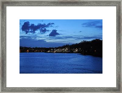 Twilight Row Framed Print by Andrew Dinh