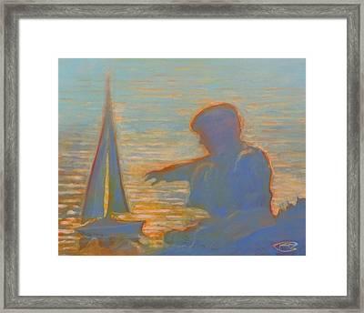 Twilight Sailor Framed Print by Kip Decker